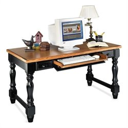 Kathy Ireland Home by Martin Southampton Writing Table in Distressed Onyx