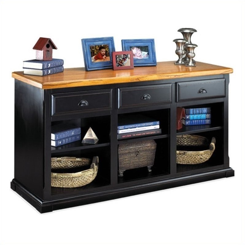 Martin Furniture Southampton 3 Drawer Console in Distressed Onyx