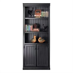 Kathy Ireland Home by Martin Southampton Lower Door Bookcase in Distressed Onyx
