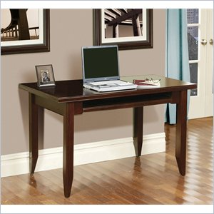 Kathy Ireland Home by Martin Tribeca Loft Wood Writing Desk in Cherry