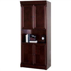 Kathy Ireland Home by Martin Mount View Bookcase with Doors