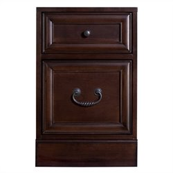 Kathy Ireland Home by Martin Mount View 2 Drawer Mobile Wood File Cabinet in Cherry Cobblestone