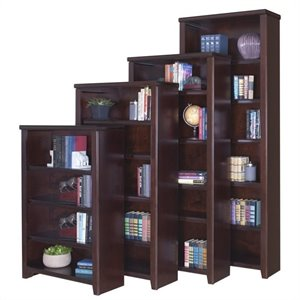 Kathy Ireland Home by Martin Tribeca Loft Bookcase in Cherry