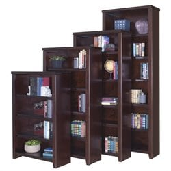 Kathy Ireland Home by Martin Tribeca Loft Bookcase in Cherry - 48 inch