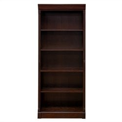 Kathy Ireland Home by Martin Mount View Office Open Bookcase in Cherry Cobblestone