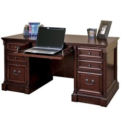 Kathy Ireland Home by Martin Mount View Efficiency Double Pedestal Desk