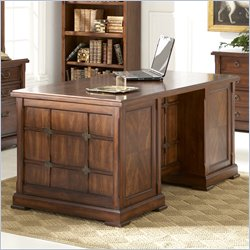 Kathy Ireland Home by Martin Portland Loft Pedestal Executive Desk in Clove