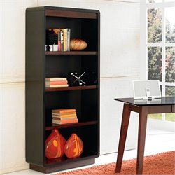 Kathy Ireland Home by Martin iNfinity Open Bookcase in Onyx Black