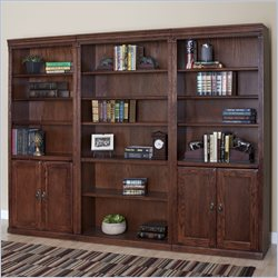 Kathy Ireland Home by Martin Huntington Oxford Alternating Wall Bookcase