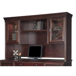 Kathy Ireland Home by Martin Huntington Club Storage Hutch in Vibrant Cherry