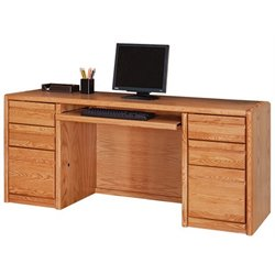 Martin Furniture Contemporary Computer Credenza in Medium Oak