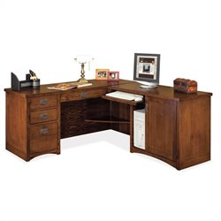Kathy Ireland Home by Martin Mission Pasadena RHF L-Shape Wood Desk