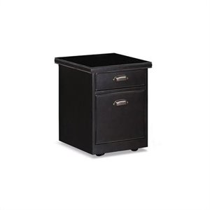 Kathy Ireland Home by Martin Tribeca Loft 2 Drawer Mobile Wood File Storage Cabinet in Black