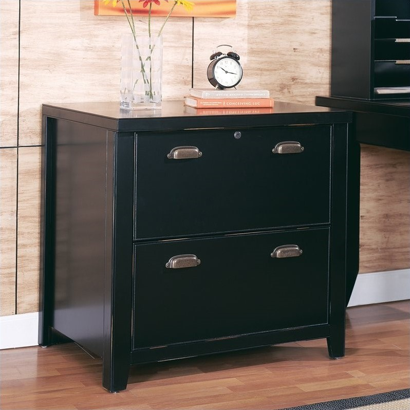 Kathy Ireland Home by Martin Tribeca Loft Lateral File in Black