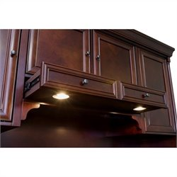 Kathy Ireland Home by Martin Mount View Storage Hutch with Pull-out Task Light