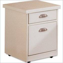 Kathy Ireland Home by Martin Tribeca Loft 2 Drawer Mobile Wood File Storage Cabinet in White
