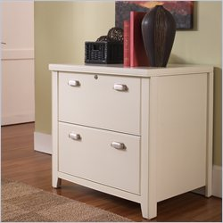 Kathy Ireland Home by Martin Tribeca Loft 2 Drawer Lateral Wood File Storage Cabinet in Distressed White