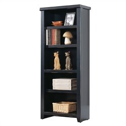 Kathy Ireland Home by Martin Tribeca Loft Small Bookcase in Black