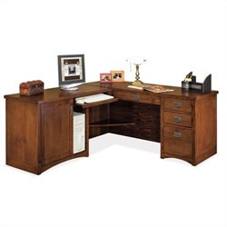 Kathy Ireland Home by Martin Mission Pasadena LHF L-Shape Wood Desk