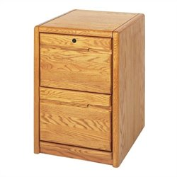 Martin Furniture Contemporary 2 Drawer File in Medium Oak