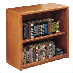 Martin Furniture Contemporary Bookcase with 2 Shelves in Medium Oak