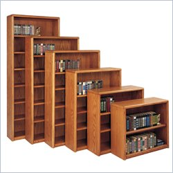 Martin Furniture Contemporary Bookcase with 5 Shelves in Medium Oak