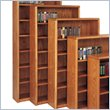 Contemporary Bookcase with 6 Shelves in Medium Oak