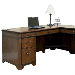 Kathy Ireland Home by Martin Kensington Desk for Right Hand Facing Keyboard Return in Warm Fruitwood