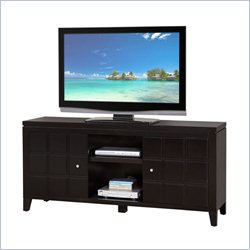 Martin Furniture Davenport TV Stand with Panel Doors in Black