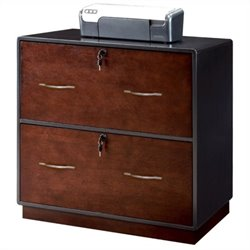Kathy Ireland Home by Martin iNfinity Lateral File in Black w/ Bourbon