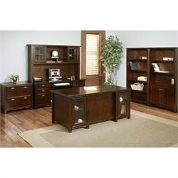Martin Furniture Tribeca Loft Executive Office Set in Cherry