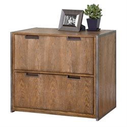 Kathy Ireland Home by Martin Belmont Lateral File in Rustic Wire Brushed Ash