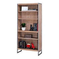 Martin Furniture Belmont 4 Shelf Bookcase in Brushed Ash
