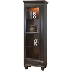 Martin Furniture Hartford Right Facing Bookcase in Two Tone Black