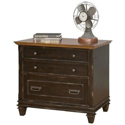 Martin Furniture Hartford File Cabinet in Two Tone Distressed Black
