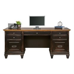 Martin Furniture Hartford Credenza in Two Tone Distressed Black