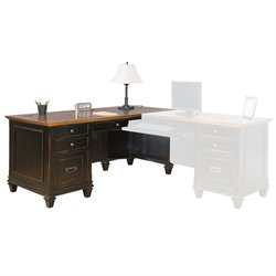 Martin Furniture Hartford Right Pedestal L-Shaped Desk