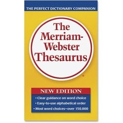 Merriam-Webster's Pprbk Thsaurus Dctinry Companion