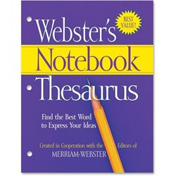 Merriam-Webster's 3-Hole Punch Paperback Thesaurus