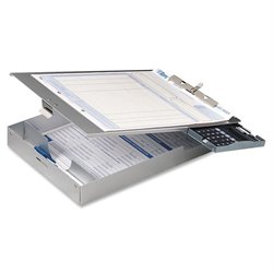 Officemate Aluminum Top-Loading Clipboard w/Calc.