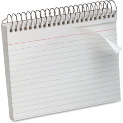 Oxford Spiral Bound Ruled Index Cards (Set of 50)