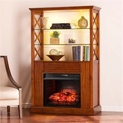 Southern Enterprises Gentry Infrared Electric Fireplace Bookcase