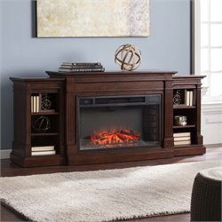 Southern Enterprises Reese Electric Fireplace TV Stand in Espresso