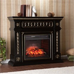 Southern Enterprises Donovan Infrared Electric Fireplace in Black