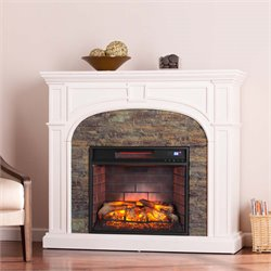 Tanaya Electric Fireplace in White