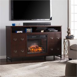Southern Enterprises Rutherford Infrared Electric Fireplace TV Stand