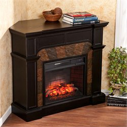 Southern Enterprises Cartwright Corner Infrared Electric Fireplace