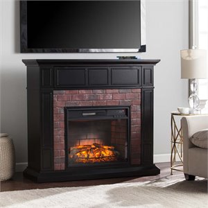 Kyledale Faux Brick Electric Fireplace TV Stand