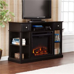 Southern Enterprises Dayton Electric Fireplace TV Stand in Black