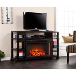 Southern Enterprises Stockton Electric Fireplace TV Stand in Ebony